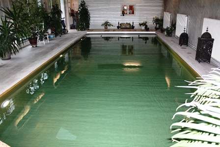 renovation piscine polyester couleur vert olive